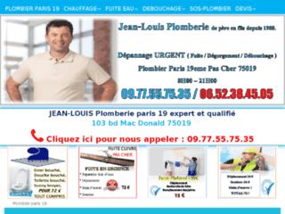Jean-Louis Plomberie, plombier chauffagiste à Paris 19