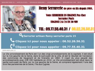 Serrurier dans le quinzième arrondissement de Paris