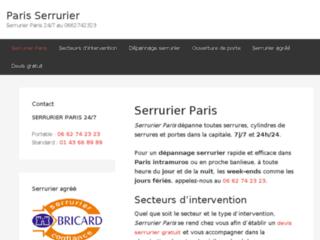 Paris Serrurier, artisan serrurier agréé