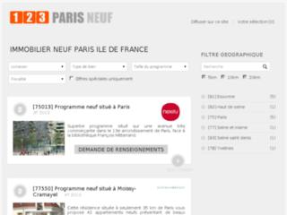 Détails : Immobilier neuf Paris