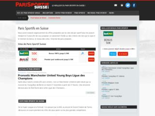 La plateforme des paris sportifs Suisse