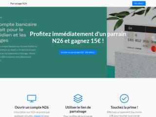Détails : Toucher la prime de 15€ avec le parrainage N26