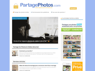 Plateforme de partage photos sécurisé