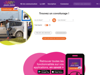 site web Pass Pass Covoiturage