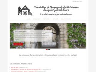 Sauvegarde du Patrimoine du lycée Gabriel Faure