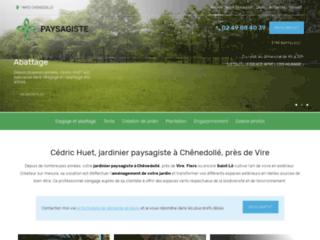 Cédric Huet, jardinier paysagiste à Chênedollé, près de Vire