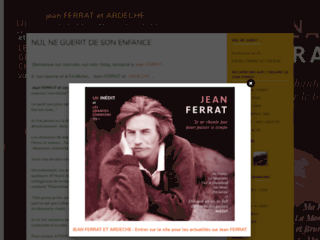 Jean Ferrat  et Ardèche