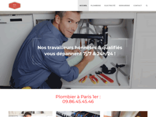 Artisan plombier à Paris 1er : dépannage rapide