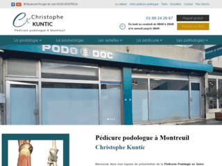 Détails : Christophe Kuntic, pédicure à Vincennes