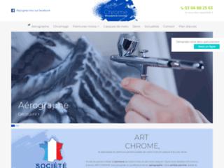 Art Chrome, peinture pour moto et casque à Arras