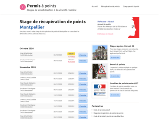 Détails : Stage de recuperation de points