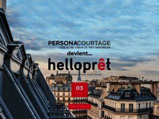 Détails : Persona Courtage, votre simulateur d'emprunt immobilier
