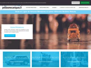 Site de vente de véhicules miniatures