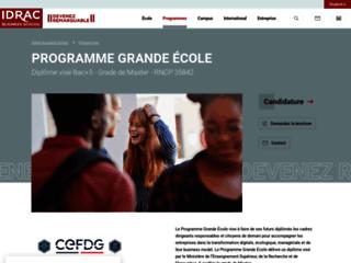 Détails : Ecole de commerce Idrac