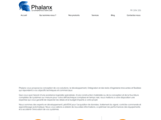 Détails : Phalanx, Tarifs et devis développements LabVIEW sur cRIO, PXI, DAQ