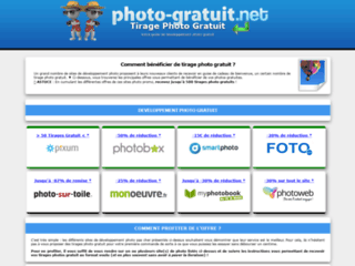 Tirage photo gratuit