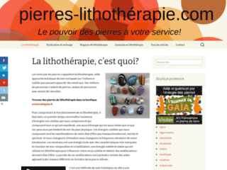 Détails : Lithothérapie , les pierres et ses bien faits