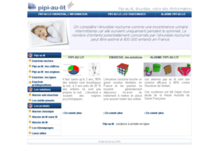 Pipi au lit : informations
