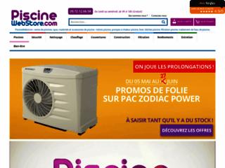 Piscinewebstore.com, vente en ligne d'accessoires et matériels de piscine