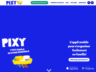 Pixy - Application mobile qui facilite l'organisation familliale