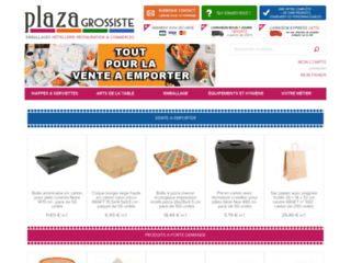 Détails : Plaza Grossiste, emballages et jetables restaurants, hôtels et commerces