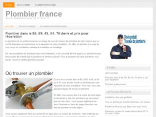 Détails : Trouver les plombiers de France