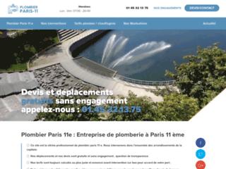 Plombier Paris 11 e : Devis et Déplacement Gratuits Sans Engagement .