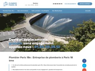 Plombier Paris 18e