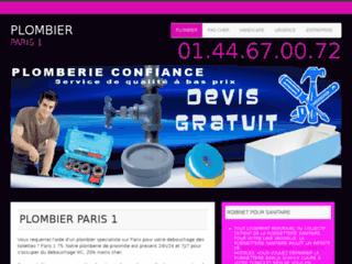 Plombier Paris 1 : Devis et Déplacement Gratuits & sans Engagement