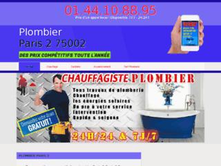 Plombier Paris 2 : Devis/Déplacement Gratuits & sans engagement