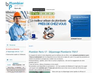 Détails : artisans : plombier paris 17 ,depannage plomberie 75017