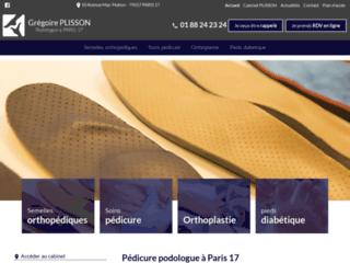 Pédicure podologue à Paris 17 Grégoire PLISSON
