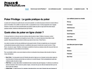 Détails : Poker Privilège