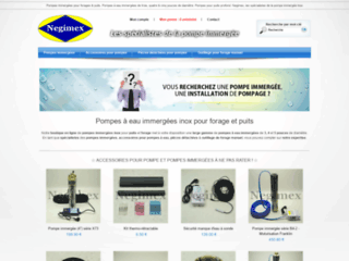 Détails : Pompes-Negimex, acquérir votre matériel en ligne