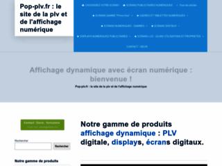 Le site de la publicité sur lieu de vente numérique et hi tech