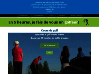 Détails : Cours de golf Laval | Presto Golf
