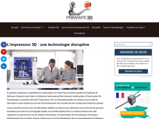 Détails : Imprimante 3d, prix et fonctionnement
