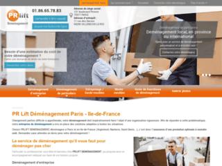 PRlift Déménagement à Paris 17, Garde-meubles à Villeneuve-le-Roi