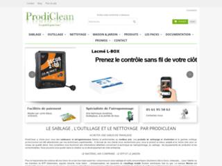 Détails : Materiel de sablage, produits de nettoyage et entretien professionnels