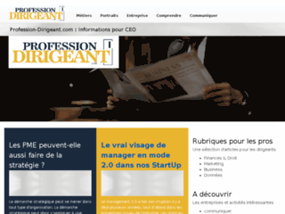 Profession Dirigeant