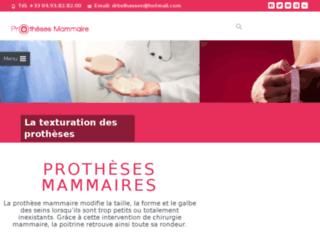 Détails : les prothèses mammaires
