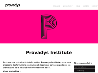 Détails : Institut de formation - Provadys Institute