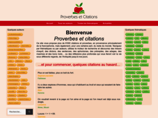 Proverbes, citations et sentences