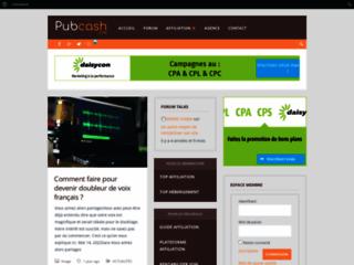 Détails : Affiliation, plateforme et regie publicitaire - pubcash.com