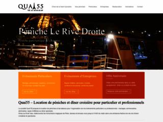 Détails : Quai 55 - Diner croisière à Paris
