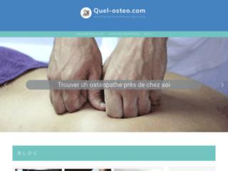Détails : blog et annuaire sur les ostéopathes