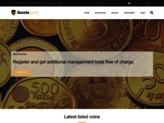 Détails : Quote Gold, pièces de collection et d'investissement