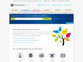 Détails : Rapidomaine - Achat de nom de domaine