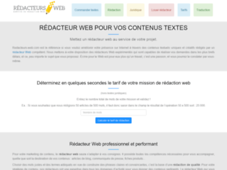 Rédacteurs web à votre service