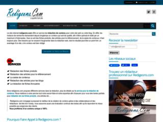 Services de stratégie de contenu Web